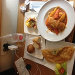 Room service: Couscous and shrimp brik