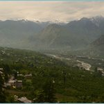 Parvati Valley view with snow peak @ Naggar Castle