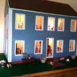 The dollhouse set for spring