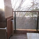 Looking at the balcony onsen