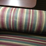 Stained sofa arm