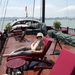 Aboard Valentine 2 in Halong Bay. Perfect!