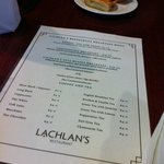 Our danishes & the breakfast menu.
