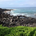 lava rock beach