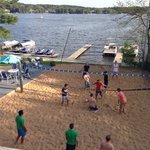 Volleyball courts-lots of fun!