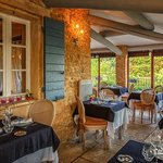 Dining terrace at Le Mas des Romarins