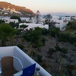 View of Mykonos (Ornos Beach area) from 4th floor balcony