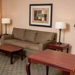Relax on the comfortable sofa or catch up on work in the desk area.