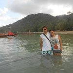 along ko tao beach