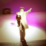 The great Bob Golding on stage as Eric Morecambe in erm, Morecambe!