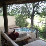 View of our back deck and plunge pool.