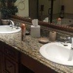 granite his and her bathroom sinks /counters