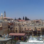 Jaffa Gate hostel view from the terrace