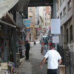This the street that Galata La Bella is on as you turn the corner next to the Tunel