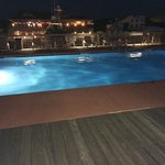 View of the Pool Deck at night