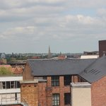 View of Leicester Cathedral spire from 6th floor room