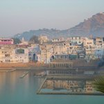View of Lake Pushkar from Hotel