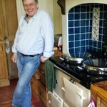 Bill at the Aga