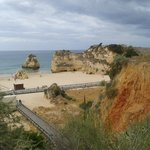 lovely promenade cliff walk into praia da rocha,