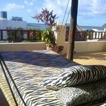 The day bed on the 3rd floor balcony