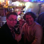 Me (right) and Thomas at the bar in Robert's Western World. We are having a great time..