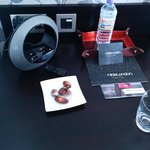 Chocolates and iPod dock