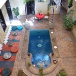 courtyard with plunge pool