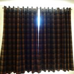 Wool tartan curtains!