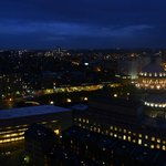 Romantic evening view, towards Symphony Hall, from 24th floor