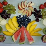 A platter of fresh fruit for you to nibble on whilst your main course is being cooked.