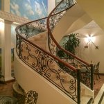 Beautifully decorated stairs and surroundings