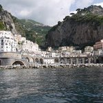 Atrani from the sea.