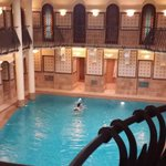 The swimming pool of the Royal Spa