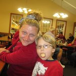 My daughter, Amy; and Cecil, my grandson