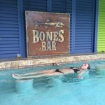 Relaxing at the Bones Pool!