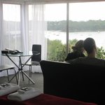 Looking out over Oneroa Bay from Aroma Del Mare honeymoon cottage