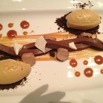 MILKY WAY WITH A TWIST  Valrhona Chocolate / Malted Nougat / Salted Caramel Ice Cream