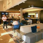 The handsome new Courtyard lobby/bistro design works very well; they should upgrade the rooms, t