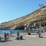Matala beach is 100 metres walk from the hotel