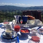 loveliest breakfast on our own terrace!!!