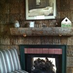 Fireplace in the Tree House Suite