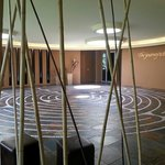The labyrinth at Evensong Spa for quiet reflection.