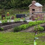 Wood fired Pizza Oven and Organic Garden