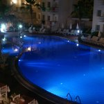 Our huge pool at night