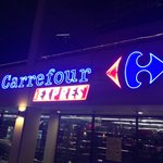 Carrefour express located right next to apartment
