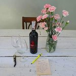 the wine and flowers