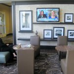 Breakfast area TV, Hampton Inn, Reno, Nevada