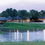 Arathusa Safari Lodge flanking a massive waterhole