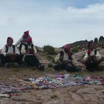 The knitting gentlemen on Taquile Island
