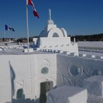 Ice hotel on Great slave lake